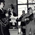 THE ROLLERS tijdens Beatmis dec. 1965 - vlnr: Ed Vermeulen, Loek Kuiper, Cor Oomk en Frans Sahupala.v.d. Hoeven,