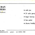 THE BRINKMAN BROTHERS  (1965-1966) promocard