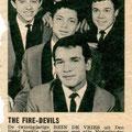 The Fire-Devils Knipsel uit de Muziek Parade (1963) met aandacht voor hun nieuwe single: True Love