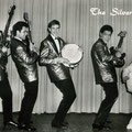 THE SILVER KINGS 1965 - latere bezetting met andere drummer vlnr: Roy Vogel - Armand Kneefel - drums ? - George Moens - Rudy Claes