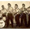 BOY & his ROLLIN' KIDS - de eerste foto uit 1961 vlnr: Vico Gagliardi, Eddy Sauer (bassist van The Rollers), Boy Jansen, Bert Jansen, Hanry Peter en Bart Carels.