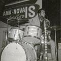 Sidney Rampersadt in Beat House, Tivoli, Aalborg, Denemarken (mei 1965)
