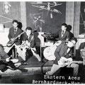 THE EASTERN ACES - Bernhardseck, Hanau - mei 1961 l/r: Bob Lammers, Tony Lentze, Wally Swärz, Loeky Diks, Richard Bastiaans