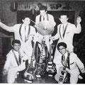 THE EASTERN ACES - Nürnberg (oktober 1961) l/r: Tony Lentze, Frans van den Brand, Loek Diks, Wally Swärz, Richard Bastiaans