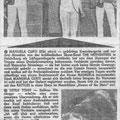 Krantenknipsel uit de Berliner Zeitung. The Hitfighters met het Berlijnse zangeresje Peggy Peters
