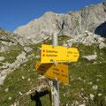 Wegkreuzung zum Graf Meran-steig