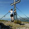 am Gipfel vom Hochturm 2081 m