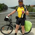 ich und mein Radl auf der Murbrücke