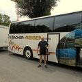 der Bus von Bacher Reisen bringt mich jetzt nach Muhr im Lungau