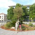 schön gestaltete Plätze in Grado
