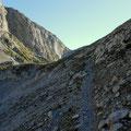am Weg zum Trawiessattel