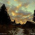 12.12.2019 - Kurz vor der Wildwiesenkapelle, ein schöner Morgenhimmel ist zu betrachten