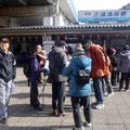 三浦海岸駅前に集合、9時30分出発