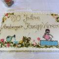Geburtstagstorte gespendet von Fa. Nußstein