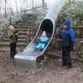Spaß auf dem Kletterspielplatz