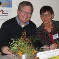 Evelin Hensel mit Bürgermeister M. Cerny