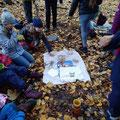 Waldpicknick mit Hagebuttenmarmelade und Hagebuttentee