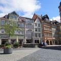 Historische Gebäude Marktplatz Coburg