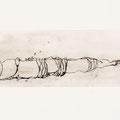 Öl und Wachs auf Papier, 25 x 52 cm (2014)