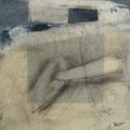 Öl und Wachs auf Papier, 20 x 20 cm (2014)