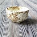 茶碗 赤土に受講生調合のアルミナ釉薬