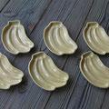 Y.Tさん バナナ小皿 菓子木型より石膏型制作 型押し・天然土灰