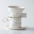ドリッパー・カップ・ソーサー 自作原型から石膏型制作 磁土泥しょう鋳込み