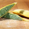 Ravioloni mit Käse-Spinat Füllung