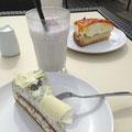 Sanddorntorte im Café Fernblau