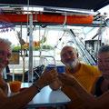 à bord de ADELCAR avec Sylvette et Marcel