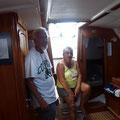 Sylvette et Marcel à bord