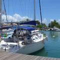 Indeed à quai dans la marina de Pointe à Pitre