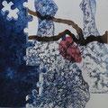 Nascida da minha árvore -água forte , água tinta e aguarela_50 x 50 cm 2013