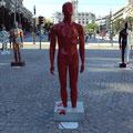 """ Sem Peças"" - Homem T - Sculpture made by fiber glass painted with acrylic"