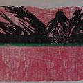 """""""schwarze Erde""""     Holzschnitt, 39 x 57 cm"""