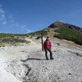 硫黄岳から鉱泉へ