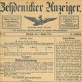 Ausschreibung für den Bau der Kirche, Zehdenicker Anzeiger 1.8.1888