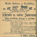 Auktion in Kurtschlag, 23.11.1889