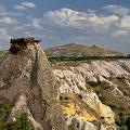Blick von der Terrasse des Asmali Cave House aufs Taubental