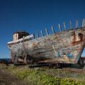 Old fishing boat in Arkranes