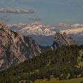 Zentraler Alpenkamm vom Weg zum Strudelkopf