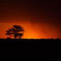 Sonnenuntergang auf der Lodge Bagatelle