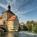 Bamberg - das alte Rathaus am Abend