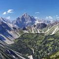 Blick von der Krinnenspitze zur Leilachspitze (2274m)