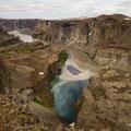 Jökulsargljufur unterhalb des Hafragilsfoss