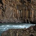 Basaltsäulen am Aldeyarfoss