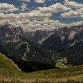 Blick vom Karnischen Höhenweg ins Fischleintal u. auf die Sextner Dolomiten