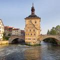 Bamberg - das alte Rathaus am  Morgen