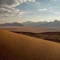 Kanaan Dünen beim Sonnenaufgang