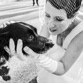 Sposa con il cane al matrimonio wedding dog sitter roma napoli toscana genova tenuta sant' eusebio
